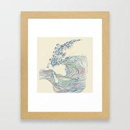 Ocean of Pugs Framed Art Print