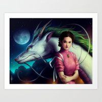 "spirited away Art Prints featuring ""Spirited Away"" by PeeGeeArts"