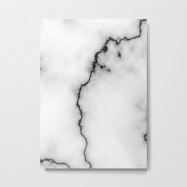 Black and white marble texture 9 Metal Print