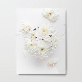 Pale Flowers Metal Print