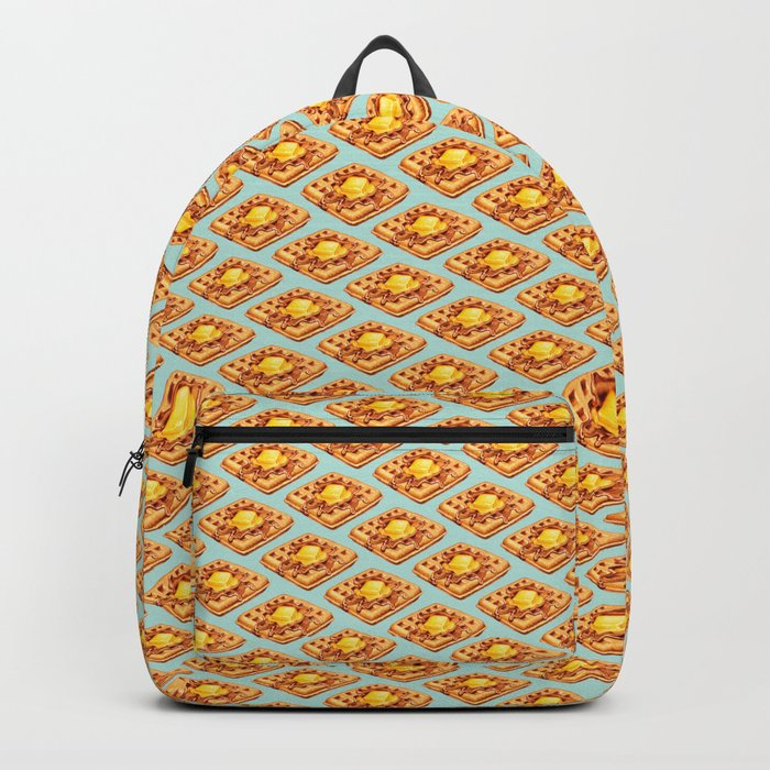 Waffle Pattern Backpack