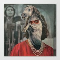 helen Canvas Prints featuring Horsehead Helen  by Computarded