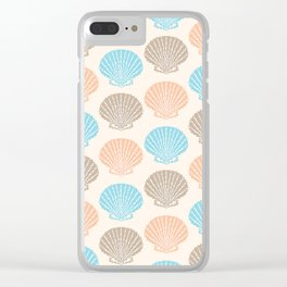 Pastel Marine Pattern 06 Clear iPhone Case