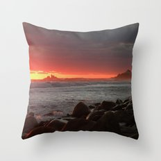 Red at night sailor's delight Throw Pillow