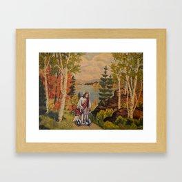 Returning From Market Framed Art Print