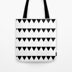 TRIANGLE BANNERS (Black) Tote Bag