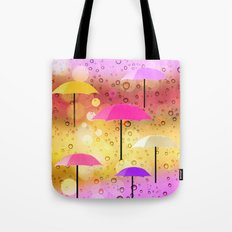 Raindrops & Umbrellas Tote Bag