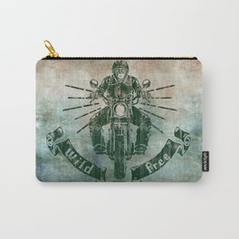 Wild and Free Motorbike Rider Carry-All Pouch