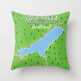 Loch Tulla Scotland travel poster. Throw Pillow