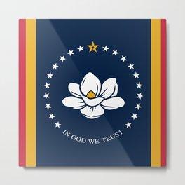 New flag of mississippi Metal Print