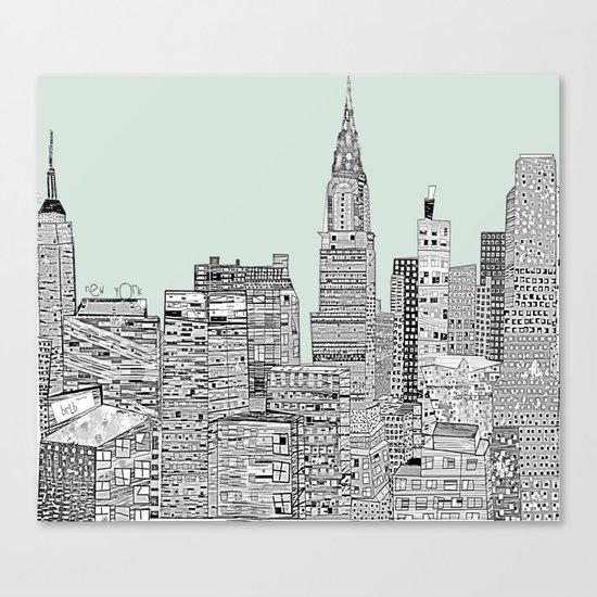 New York vintage  Canvas Print