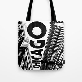 Cities in Black - Chicago Tote Bag