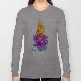Fire and water Lotus Long Sleeve T-shirt