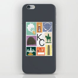 Kansas City Landmark Print iPhone Skin