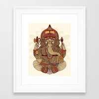 ganesha Framed Art Prints featuring Ganesha: Lord of Success by Valentina Harper