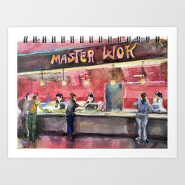 Master Wok Art Print