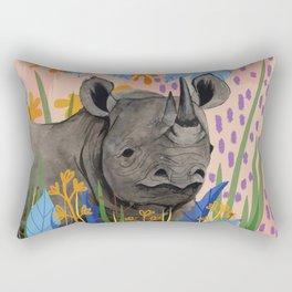 BLACK RHINO illustration Rectangular Pillow