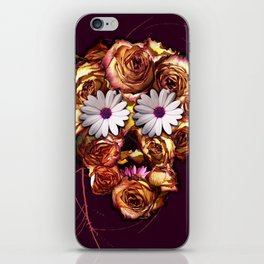 Withering Rose Skull iPhone Skin