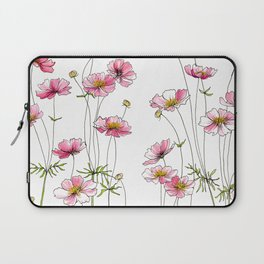 Pink Cosmos Flowers Laptop Sleeve