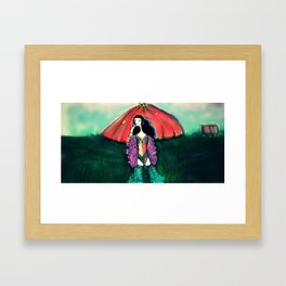 mu Framed Art Print