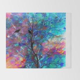 Love Birds Abstract #society6 #decor #lovebirds by Lena Owens @OLena Art Throw Blanket