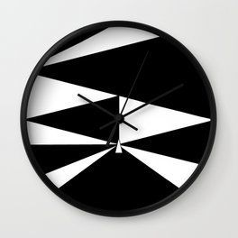 Triangles in Black and White Wall Clock