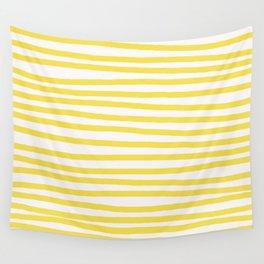 Illuminating Yellow Stripes Horizontal Wall Tapestry