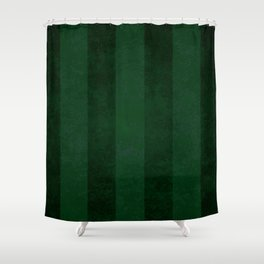 Emerald Stripes Shower Curtain