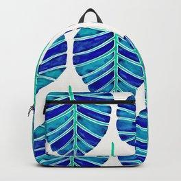 Elephant Ear Alocasia – Blue & Turquoise Palette Backpack