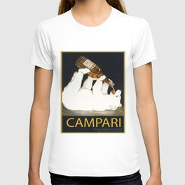 Vintage 1928 Campari Polar Bear Alcoholic Bitters Advertisement by Franz Laskoff T-shirt