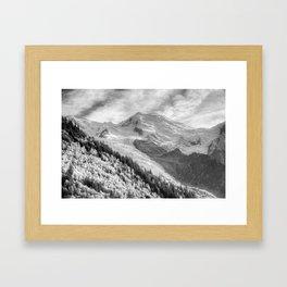 Mont Blanc Monochrome Framed Art Print