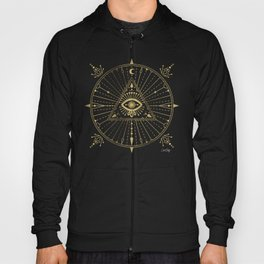 All-Seeing Eye Mandala – Gold Palette Hoody