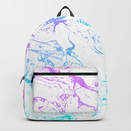 White marble purple blue turquoise ombre watercolor mermaid pattern Backpack