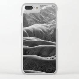 Endless Valleys (Black and White) Clear iPhone Case