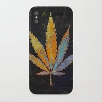 cannabis iPhone & iPod Cases featuring Cannabis by Michael Creese