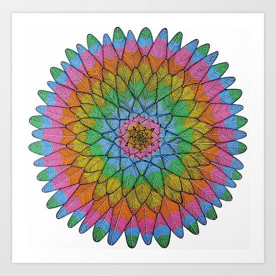 Meditaction Art Print