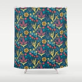 Florid Dreams Blue Shower Curtain