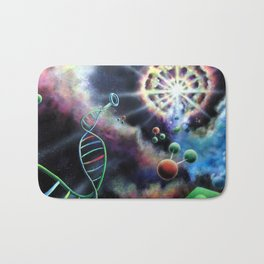 Amazing Space Surreal Psychedelic Art by Vincent Monaco, First Days Bath Mat