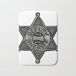 Deputy Sheriff Badge Bath Mat