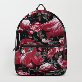 Floral and Flamingo VIII pattern Backpack