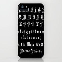 Arcana Academy - Alphabet iPhone Case