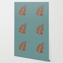 Bronze Palm Leaf Wallpaper