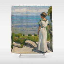 Paul Fischer - On the terrace (1912) Shower Curtain