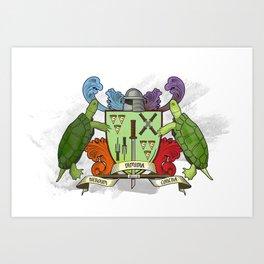Sewer Family Crest Art Print