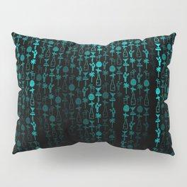 Bright Neon Aqua Blue Digital Cocktail Party Pillow Sham