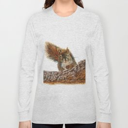 Cheeky the Red Squirrel by Teresa Thompson Long Sleeve T-shirt