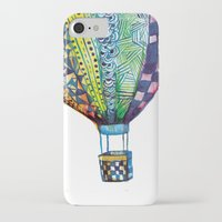 hot air balloon iPhone & iPod Cases featuring Hot Air Balloon by Emily Stalley