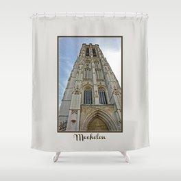 Mechelen Belgium cathedral tower Shower Curtain