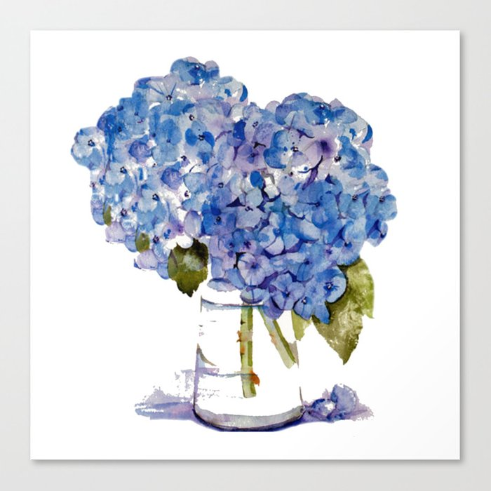 Hydrangea Painting Canvas Print By Karencox Society6