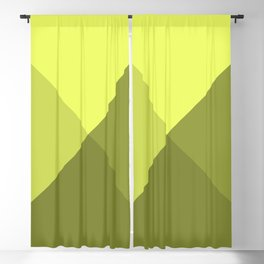 Simple , neon yellow Blackout Curtain